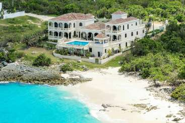 Aerial photo of Villa AXA CAS (Sandcastle) at Little Bay, Anguilla, Family-Friendly, Pool, 4 Bedroom, 4 Bathroom, WiFi, WIMCO Villas