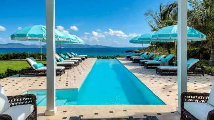 Villa Pool at Villa AXA TNM (Tigh-na-Mara) at Elsie Bay, Anguilla, Family-Friendly, Pool, 4 Bedroom, 4 Bathroom, WiFi, WIMCO Villas