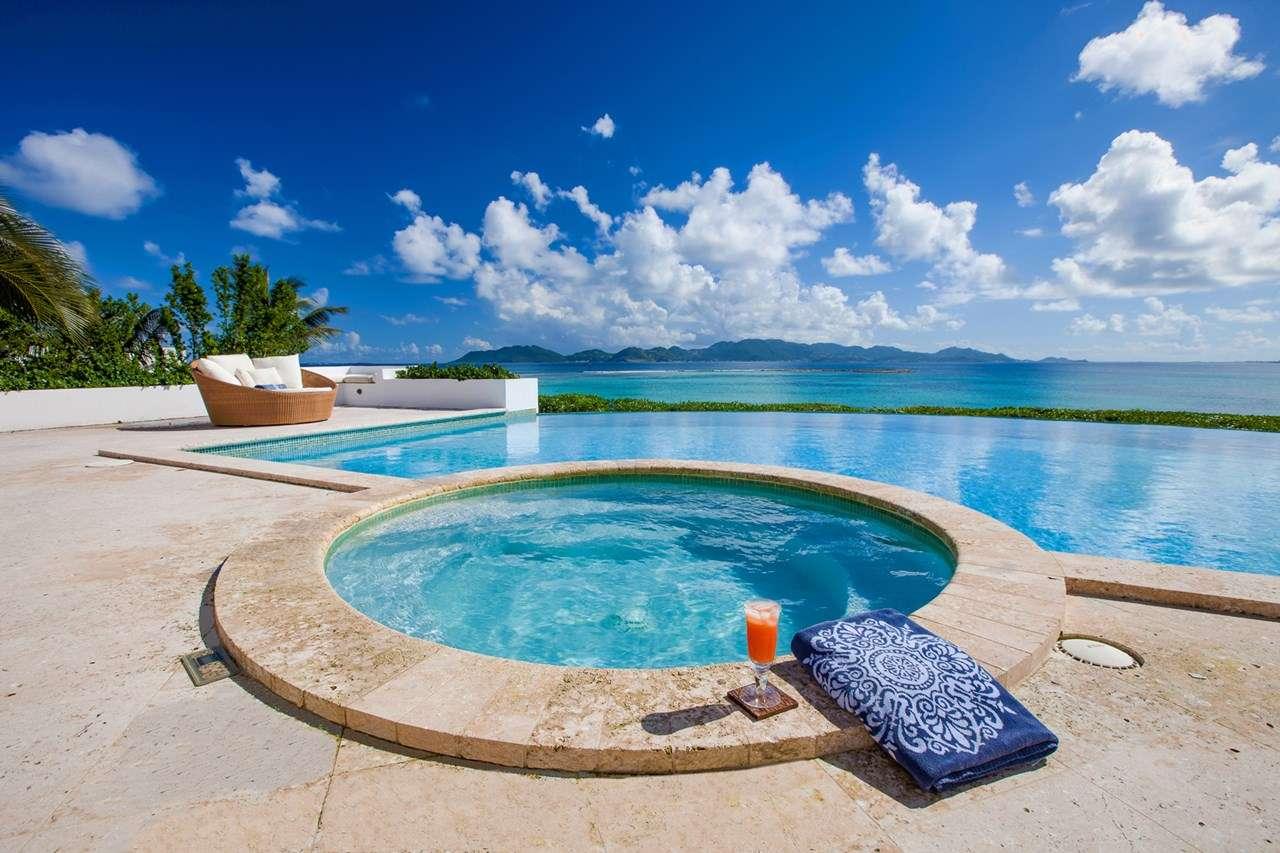 Jacuzzi at Villa AXA ALE (Alegria) at Blowing Point, Anguilla, Family-Friendly, Pool, 4 Bedroom, 4 Bathroom, WiFi, WIMCO Villas