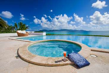 Jacuzzi at Villa AXA ALE (Alegria) at Blowing Point, Anguilla, Family-Friendly, Pool, 4 Bedroom, 4 Bathroom, WiFi, WIMCO Villas