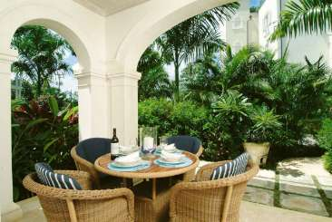 Terrace at Villa AA MNS (Schooner Bay #112 - Moonshine) at Schooner Bay - St. Peter, Barbados, Family-Friendly, Pool, 1 Bedroom, 1.5 Bathroom, WiFi, WIMCO Villas