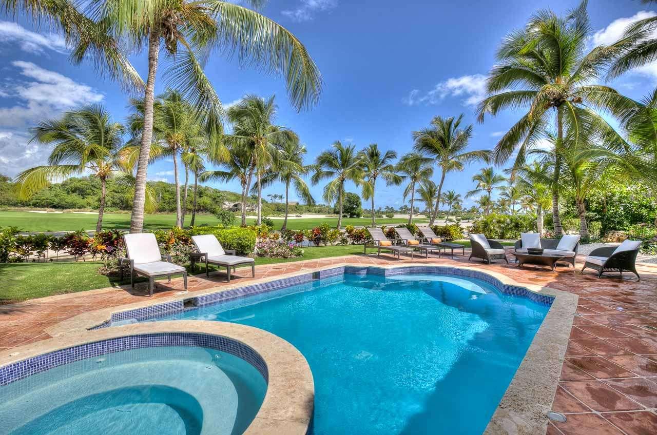 Villa Pool at Villa DR CAL (Caleton 3) at Cap Cana, Dominican Republic, Family-Friendly, Pool, 3 Bedroom, 3 Bathroom, WiFi, WIMCO Villas