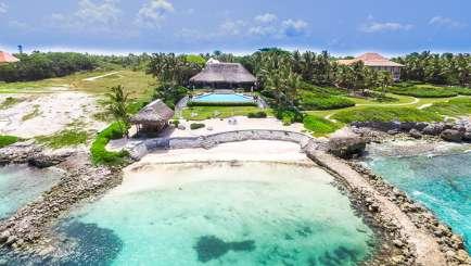 Aerial photo of Villa DR CR18 (Corales 18) at Punta Cana, Dominican Republic, Family-Friendly, Pool, 5 Bedroom, 5 Bathroom, WiFi, WIMCO Villas