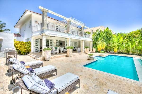 Villa Pool at Villa DR TB10 (Tortuga Bay B10) at Punta Cana, Dominican Republic, Family-Friendly, Pool, 4 Bedroom, 4 Bathroom, WiFi, WIMCO Villas