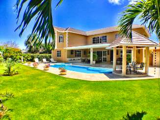 Villa Pool at Villa DR TB33 (Tortuga Bay 4 BR) at Punta Cana, Dominican Republic, Family-Friendly, Pool, 4 Bedroom, 4 Bathroom, WiFi, WIMCO Villas