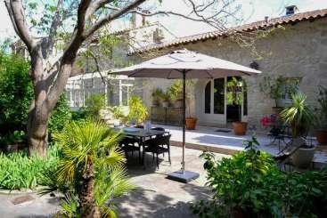 Veranda at Villa FRA ANC (L'Ancienne Livree) at Provence - Avignon Area, France, Family-Friendly, No Pool, 3 Bedroom, 3 Bathroom, WiFi, WIMCO Villas
