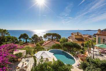 The view from Villa FRA PANO (Panorama) at Cote D Azur - Nice to Monaco, France, Family-Friendly, Pool, 4 Bedroom, 4.5 Bathroom, WiFi, WIMCO Villas