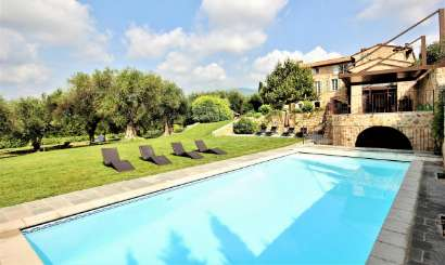 Villa Pool at Villa YNF BAS (La Bastide des Reveries) at Cote D Azur - Grasse & Cannes, France, Family-Friendly, Pool, 6 Bedroom, 6 Bathroom, WiFi, WIMCO Villas