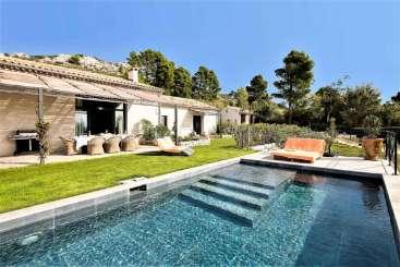 Villa Pool at Villa YNF DES (Maison de Destet) at Provence - Les Alpilles Area, France, Family-Friendly, Pool, 5 Bedroom, 4 Bathroom, WiFi, WIMCO Villas