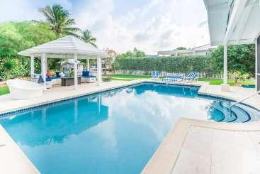 Villa Pool at Villa CM LMT (Lime Tree) at Seven Mile Beach, Grand Cayman, Family-Friendly, Pool, 4 Bedroom, 4 Bathroom, WiFi, WIMCO Villas