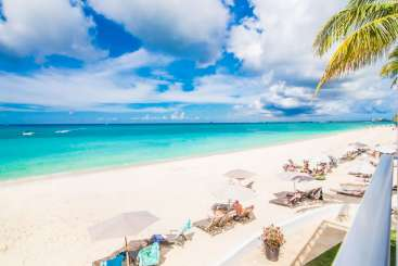 Beach at Villa CM RGA (Regal Beach 121) at Seven Mile Beach, Grand Cayman, Family-Friendly, Pool, 3 Bedroom, 3 Bathroom, WiFi, WIMCO Villas