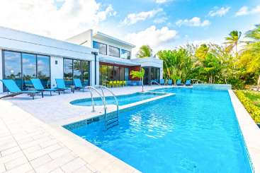 Villa Pool at Villa GCM WHD (White Dalia) at Cayman Kai, Grand Cayman, Family-Friendly, Pool, 4 Bedroom, 4 Bathroom, WiFi, WIMCO Villas