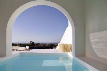 Villa Pool at Villa GRC ATH (Athiri at Vino Houses) at Santorini/Oia, Greece, Family-Friendly, Pool, 2 Bedroom, 1 Bathroom, WiFi, WIMCO Villas
