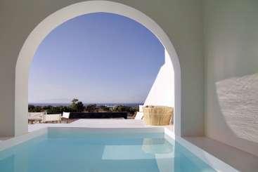 Villa Pool at Villa GRC ATH (Athiri at Vino Houses) at Santorini/Oia, Greece, Family-Friendly, Pool, 2 Bedroom, 1 Bathroom, WiFi, WIMCO Villas, Available for the Holidays