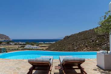 Villa Pool at Villa LIV AGR (Agrari Beach House) at Mykonos, Greece, Family-Friendly, Pool, 4 Bedroom, 4 Bathroom, WiFi, WIMCO Villas