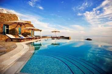 Villa Pool at Villa LIV ERO (Eros ) at Mykonos, Greece, Family-Friendly, Pool, 5 Bedroom, 3 Bathroom, WiFi, WIMCO Villas