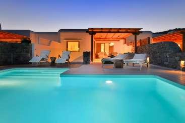 Exterior of Villa LIV GIN (Ginger Red) at Mykonos, Greece, Family-Friendly, Pool, 3 Bedroom, 3 Bathroom, WiFi, WIMCO Villas