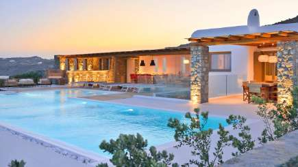 Villa Pool at Villa LIV GWT (Ginger White) at Mykonos, Greece, Family-Friendly, Pool, 4 Bedroom, 3 Bathroom, WiFi, WIMCO Villas