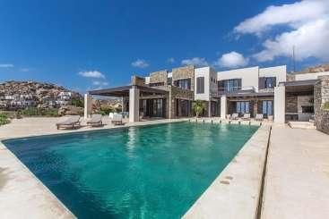 Villa Pool at Villa LIV HON (Honde) at Mykonos, Greece, Family-Friendly, Pool, 4 Bedroom, 4 Bathroom, WiFi, WIMCO Villas