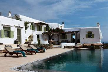 Exterior of Villa LIV PNR (Panormos Retreat) at Mykonos, Greece, Family-Friendly, Pool, 4 Bedroom, 4 Bathroom, WiFi, WIMCO Villas