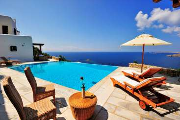 Villa Pool at Villa LIV SEL (Selene) at Mykonos, Greece, Family-Friendly, Pool, 3 Bedroom, 3 Bathroom, WiFi, WIMCO Villas