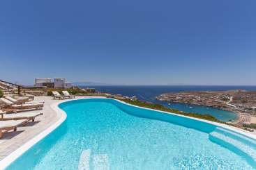 Villa Pool at Villa LIV SP1 (Super Paradise One) at Mykonos, Greece, Family-Friendly, Pool, 5 Bedroom, 5 Bathroom, WiFi, WIMCO Villas