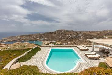 The view from Villa LIV SP2 (Super Paradise Two) at Mykonos, Greece, Family-Friendly, Pool, 3 Bedroom, 3 Bathroom, WiFi, WIMCO Villas
