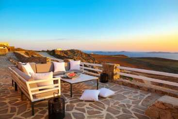 The view from Villa LIV STR (Stardust) at Mykonos, Greece, Family-Friendly, No Pool, 4 Bedroom, 4 Bathroom, WiFi, WIMCO Villas