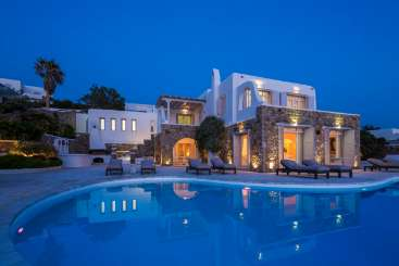 Greece Rockstar Retreat, Luxury Villa Sunset Dream