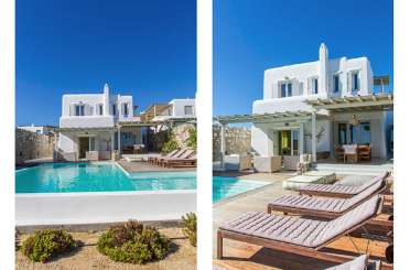Exterior of Villa LIV WHM (White Mystic) at Mykonos, Greece, Family-Friendly, Pool, 3 Bedroom, 3 Bathroom, WiFi, WIMCO Villas