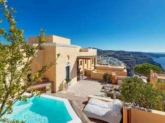 Exterior of Villa MED ARC (Maison L'Archipel) at Santorini, Greece, Family-Friendly, No Pool, 4 Bedroom, 3.5 Bathroom, WiFi, WIMCO Villas