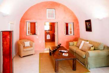 Living Room at Villa MED IVI (Ivi) at Santorini, Greece, Family-Friendly, No Pool, 2 Bedroom, 2 Bathroom, WiFi, WIMCO Villas