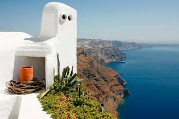 The view from Villa VMS ILO (Villa Ilios) at Santorini, Greece, Family-Friendly, No Pool, 1 Bedroom, 1 Bathroom, WiFi, WIMCO Villas