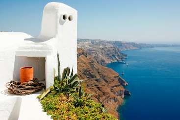 Exterior of Villa VMS SEL (Selene) at Santorini, Greece, Family-Friendly, No Pool, 1 Bedroom, 1 Bathroom, WiFi, WIMCO Villas