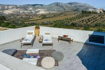 Deck at Villa BRV AIR (Aieri) at Sicily, Italy, Family-Friendly, Pool, 3 Bedroom, 3 Bathroom, WiFi, WIMCO Villas