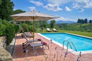 Villa Pool at Villa BRV BAB (Bablu) at Florence Area, Italy, Family-Friendly, Pool, 5 Bedroom, 5 Bathroom, WiFi, WIMCO Villas