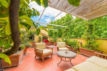 Patio at Villa BRV BLR (Bella Roma) at Rome Area - Apartment, Italy, Family-Friendly, No Pool, 2 Bedroom, 1 Bathroom, WiFi, WIMCO Villas