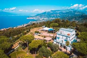 Aerial photo of Villa BRV DOD (Dodola) at Sorrento Coast, Italy, Family-Friendly, Pool, 11 Bedroom, 11 Bathroom, WiFi, WIMCO Villas