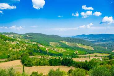The view from Villa BRV ERN (Erinda) at Tuscany/Chianti, Italy, Family-Friendly, Pool, 4 Bedroom, 4 Bathroom, WiFi, WIMCO Villas