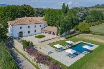 Aerial photo of Villa BRV ISI (Isimora) at Florence Area, Italy, Family-Friendly, Pool, 9 Bedroom, 9 Bathroom, WiFi, WIMCO Villas