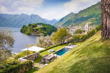 Villa Pool at Villa BRV JEN (Jeanneret) at Lake Como, Italy, Family-Friendly, Pool, 5 Bedroom, 2 Bathroom, WiFi, WIMCO Villas