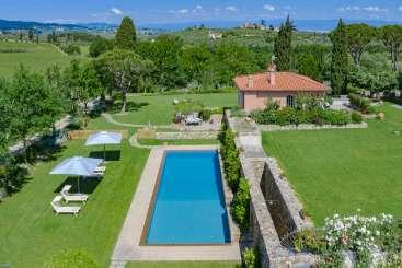 Villa Pool at Villa BRV PUL (Pulcra) at Florence Area, Italy, Family-Friendly, Pool, 3 Bedroom, 3 Bathroom, WiFi, WIMCO Villas