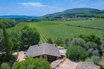 Aerial photo of Villa BRV SAS (Allegra) at Tuscany/Siena, Italy, Family-Friendly, Pool, 4 Bedroom, 4 Bathroom, WiFi, WIMCO Villas