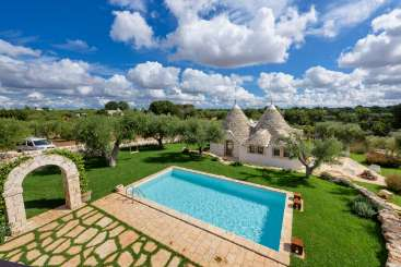Villa Pool at Villa BRV TRI (Tria) at Puglia, Italy, Family-Friendly, Pool, 3 Bedroom, 2 Bathroom, WiFi, WIMCO Villas