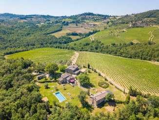Aerial photo of Villa BRV VER (Verdiana) at Tuscany/Chianti, Italy, Family-Friendly, Pool, 10 Bedroom, 10 Bathroom, WiFi, WIMCO Villas