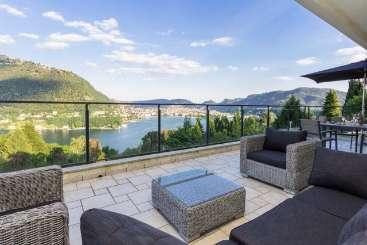 Terrace at Villa HII ALA (Alano) at Lake Como, Italy, Family-Friendly, Pool, 4 Bedroom, 4 Bathroom, WiFi, WIMCO Villas