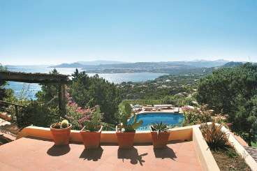 The view from Villa HII LUN (Luna) at Sardinia, Italy, Family-Friendly, Pool, 5 Bedroom, 5 Bathroom, WiFi, WIMCO Villas