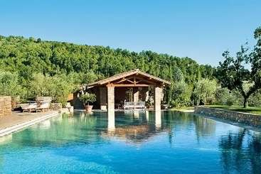 Villa Pool at Villa HII NCE (Il Borgo Noceto) at Tuscany/Florence, Italy, Family-Friendly, Pool, 4 Bedroom, 4 Bathroom, WiFi, WIMCO Villas