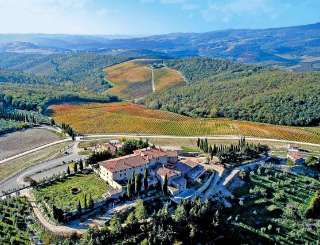 Aerial photo of Villa SAL CAV (Cavalcanti) at Tuscany/Chianti, Italy, Family-Friendly, Pool, 3 Bedroom, 3 Bathroom, WiFi, WIMCO Villas
