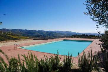 Villa Pool at Villa SAL CAV (Cavalcanti) at Tuscany/Chianti, Italy, Family-Friendly, Pool, 3 Bedroom, 3 Bathroom, WiFi, WIMCO Villas